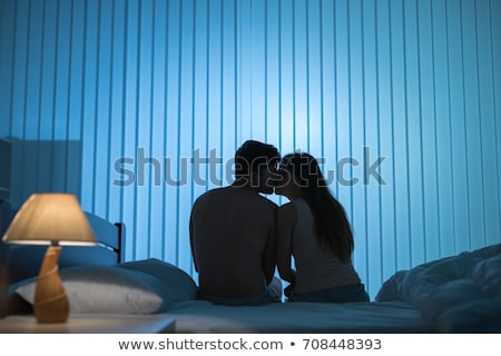 silhouette of a couple woman man in bed Stock photo © Istanbul2009