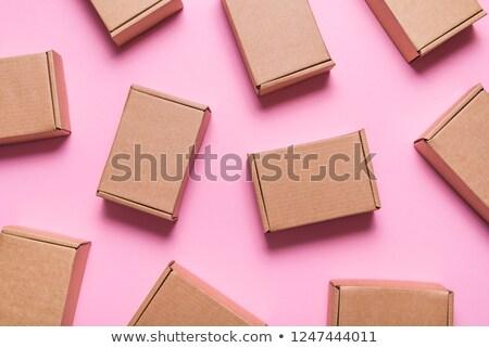 Piros kartondoboz 3D generált kép nyitva Stock fotó © flipfine