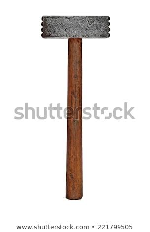 vintage masonry or kitchen mallet Stock photo © RedDaxLuma