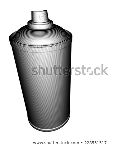 spraycan illustration grid pattern in black and white Stock photo © Melvin07
