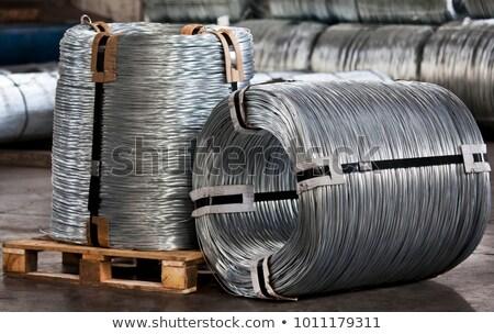 гальванизированный проводов катиться белый промышленных стали Сток-фото © dezign56