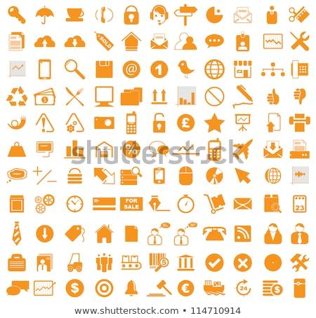 Stock photo: wifi orange icon