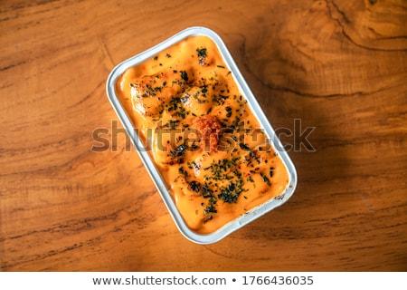 japanese food salmon mentai sauce stock photo © nalinratphi