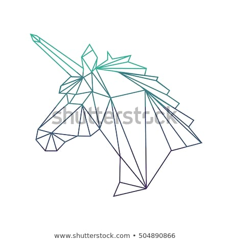 kurt · logo · dövme · siluet · kafa · hayvan - stok fotoğraf © tikkraf69