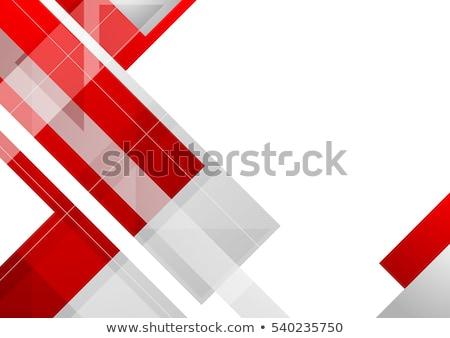 rouge · modèle · blanche · papier · lumière · espace - photo stock © serebrov