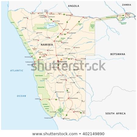 地図 ナミビア 異なる 白 抽象的な ストックフォト © mayboro1964