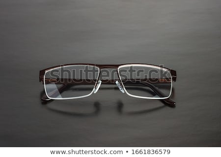Plastique lunettes paire blanche fond Photo stock © nito