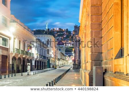 Histórico centro cidade velha norte Equador montanhas Foto stock © xura