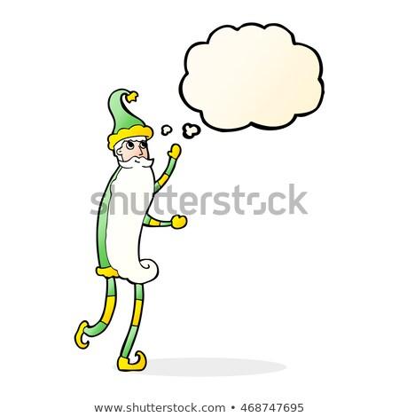 Cartoon тощий мысли пузырь стороны дизайна Сток-фото © lineartestpilot