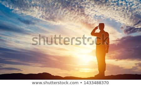 soldiers at sunset stock photo © adrenalina