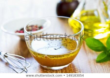 サラダドレッシング · 材料 · 新鮮な · ハーブ · リュウゼツラン · シロップ - ストックフォト © fotogal