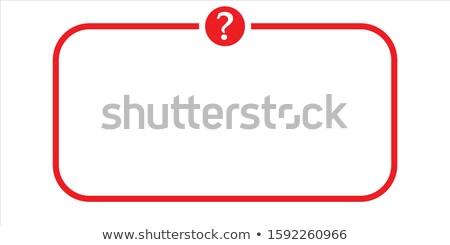 Faq rouge vecteur icône design aider Photo stock © rizwanali3d