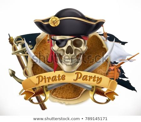 old retro pirate sword vector illustration stock photo © konturvid