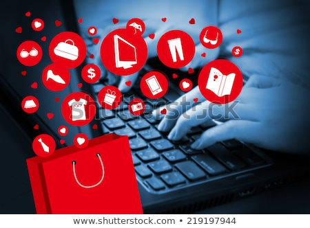 clavier · rouge · bouton · achats · en · ligne · affaires · bureau - photo stock © Zerbor