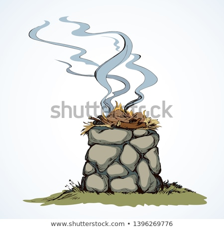 Biblii kamień ołtarz otwarte kościoła rock Zdjęcia stock © Juhku