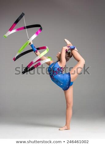 Tinédzser torna tánc ugrik szürke nő Stock fotó © master1305