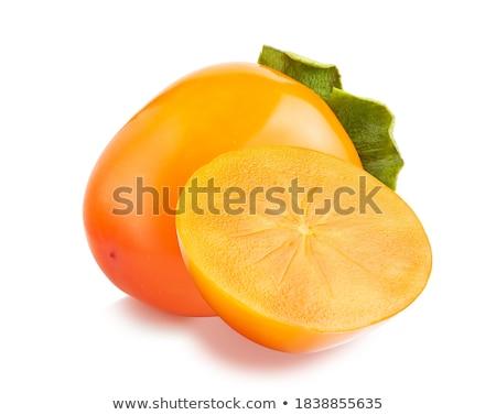 全体 柿 フルーツ 白 オレンジ 甘い ストックフォト © peter_zijlstra