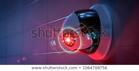 Biztonság videókamera cctv lemez monitor város Stock fotó © hin255