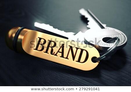 Gwarantować klucze tekst złoty czarny Zdjęcia stock © tashatuvango
