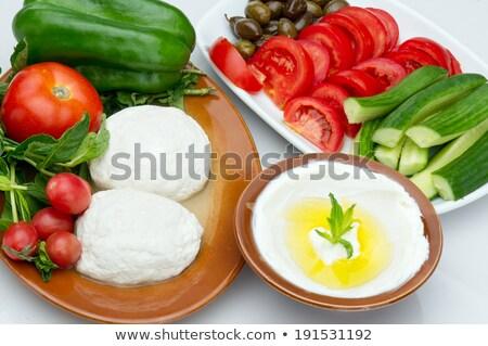 cabra · leite · queijo · de · cabra · exibir · famoso · queijo - foto stock © VisualCorruption