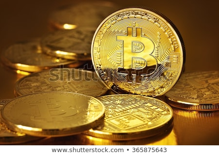Photo Golden Bitcoin (new virtual money ) Stock photo © manaemedia