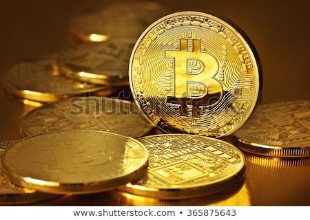 fotó · arany · bitcoin · új · virtuális · pénz - stock fotó © manaemedia