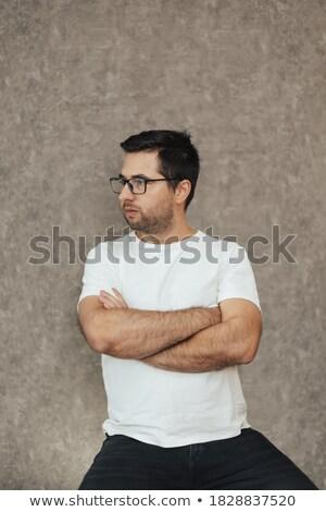 サイド · 肖像 · クール · ファッション · 男 · 乱雑な - ストックフォト © feedough
