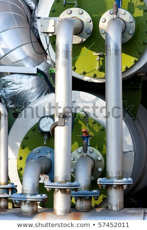 Green Industrial Boilers and Pipework Stock photo © rekemp