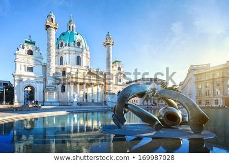 Igreja Viena Áustria nascer do sol edifício cidade Foto stock © AndreyKr