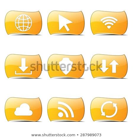 social internet yellow vector buttonicon design set stock photo © rizwanali3d