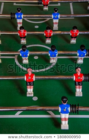 Blur Vintage Foosball, Table Soccer or Football Kicker Game Stock photo © stevanovicigor