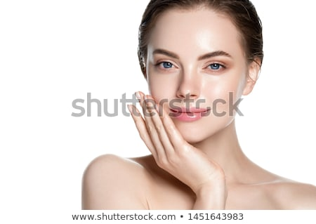Smiling woman with clean skin Stock photo © stockyimages