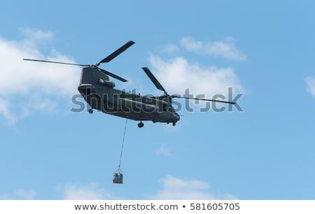 militaire · vervoer · vliegtuig · vliegen · rechtdoor · Blauw - stockfoto © oleksandro