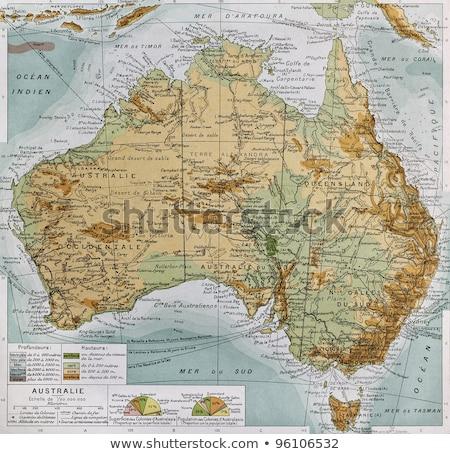 オーストラリア タスマニア州 ヴィンテージ 地図 フォーカス 島 ストックフォト © PixelsAway