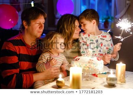 счастливая семья второй рождения ребенка дочь Сток-фото © dashapetrenko