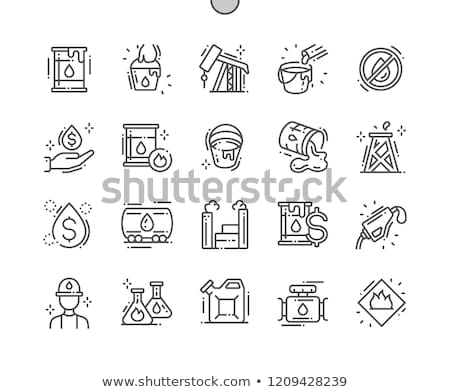 gázolaj · pumpa · fúvóka · vonal · ikon · háló - stock fotó © rastudio