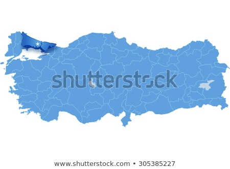 Map of Turkey where Istanbul province is pulled out Stock photo © Istanbul2009
