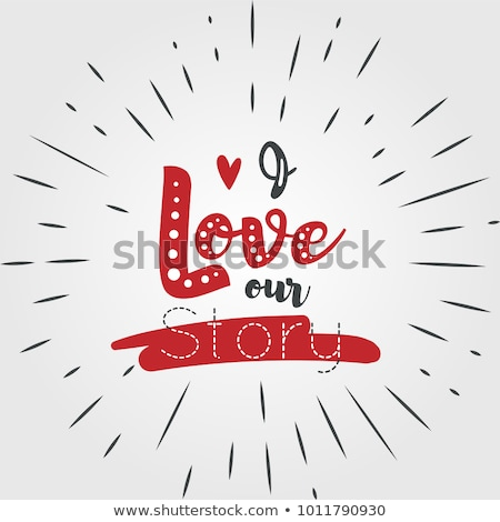 love story logo symbol stock photo © netkov1