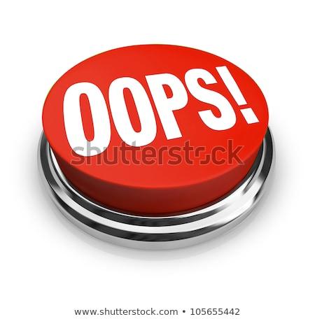 Oops botão masculino mão tecnologia tela Foto stock © fuzzbones0