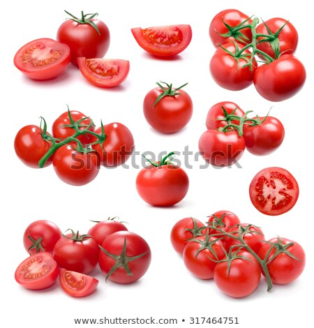 Tomato set isolated on white background. (Single, cluster, group Stock photo © Leonardi