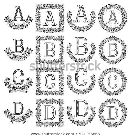 Conjunto clássico logotipo monograma projeto cartas Foto stock © netkov1