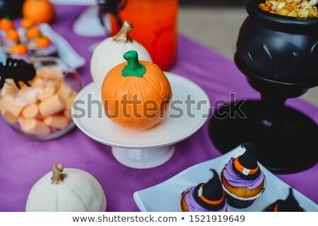 Halloween minitorták ősz ünnepi ünnep cukorka Stock fotó © rojoimages
