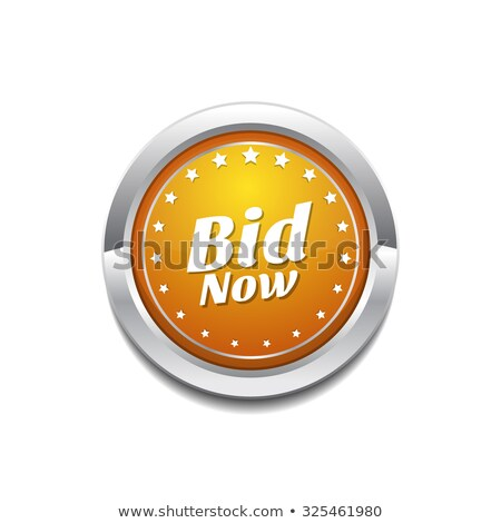 Bid Now Yellow Vector Icon Button Stock photo © rizwanali3d