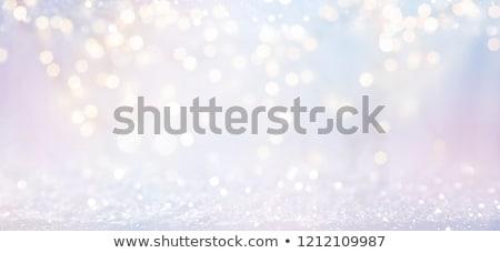 Blauw witte bokeh abstract lichten Stockfoto © wenani