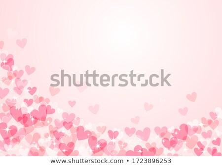 Roze hart frame collage bloemen cirkels Stockfoto © x7vector