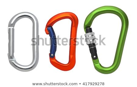 Blauw haak sterkte Rood touwen tekst Stockfoto © tashatuvango