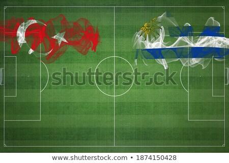 Törökország Uruguay zászlók puzzle izolált fehér Stock fotó © Istanbul2009