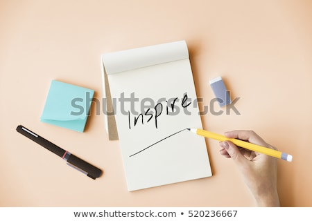 notebook paper with love message stock photo © kariiika
