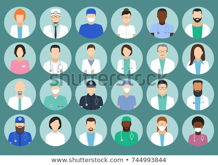 Medical staff avatars - user icons of doctors (physicians) and nurses  Stock photo © Winner