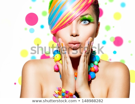 girl with colorful bracelets stock photo © svetography